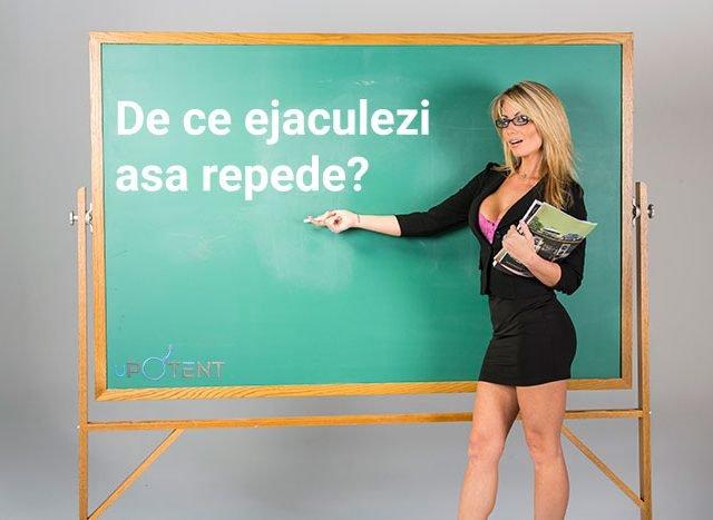 Profesoara intreaba de ce ejaculezi asa repede