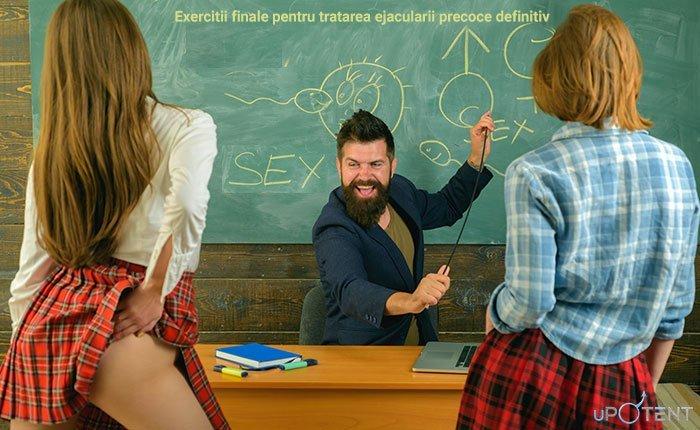 Profesor arata exercitii finale pentru tratarea ejacularii precoce